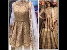 Load image into Gallery viewer, Gold Bronze Silk Wedding Lehenga Choli Set SF532SIY - Siya Fashions