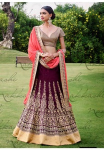 Astounding Pink Indian Wedding Bridal Lehenga In Bhagalpuri SFYDS792NK - Siya Fashions
