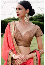 Load image into Gallery viewer, Astounding Pink Indian Wedding Bridal Lehenga In Bhagalpuri SFYDS792NK - Siya Fashions