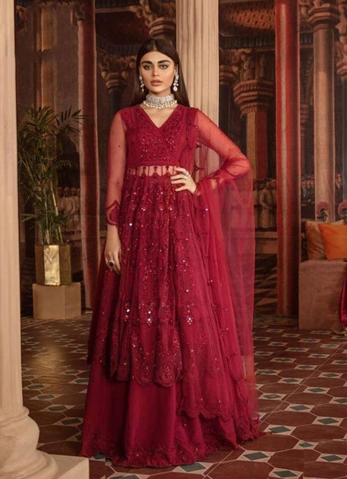 Blamy Red Net Lehenga Kameez Suit SIYAFAS90 - Siya Fashions