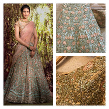 Blue Bridal Reception Wedding Lehenga Set In Net SFIN1778 - Siya Fashions