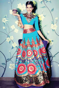 Bollywood Bridesmaid Lehenga Auqa Lehenga SFINS4432 - Siya Fashions