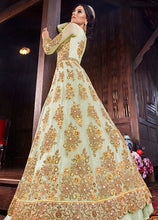 Load image into Gallery viewer, Bridal Cream Pure Net Lehenga Kameez Suit SFYDS9556 - Siya Fashions