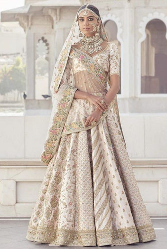Bridal Enhanced Wedding Lehenga In White SFINSB80 - Siya Fashions