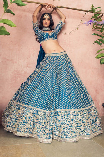 Bridal Silk Lehenga Set Zardozi Work SIYAINS1290