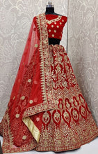 Load image into Gallery viewer, Bridal Velvet Lehenga Choli Zari Resham Work SFYDS0821 - Siya Fashions