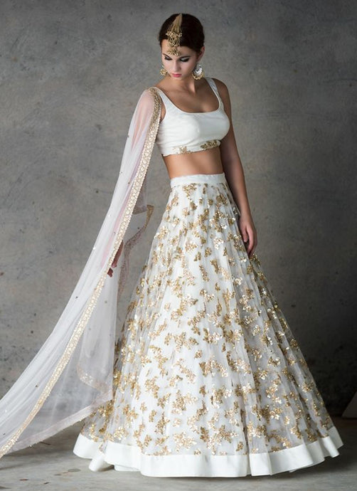 Bridesmaid Indian Wedding Lehenga Set In Net SIYAINS098 - Siya Fashions