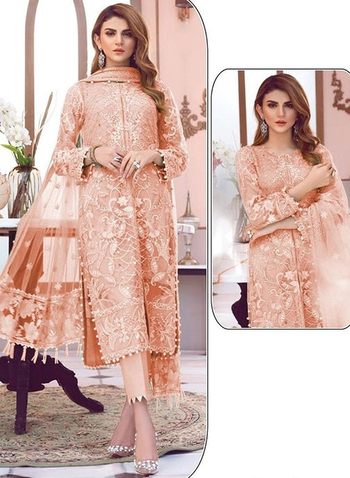 Casual Cigratte Pants Peach Suit Net SFYS135EX