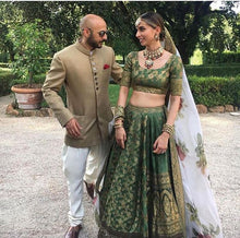 Client's Diary Green Bridal Royal Lehenga SF2925INS - Siya Fashions