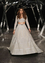 Load image into Gallery viewer, Client's Diary Sara Ali Khan Ivory Prom Lehenga SF225INS - Siya Fashions