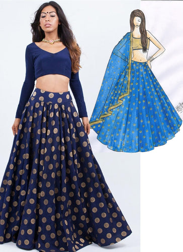 Clients Diary Blue Lehenga Choli In Silk SFC119 - Siya Fashions