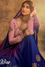 Load image into Gallery viewer, Designer Blue And Purple Silk Saree SY1674 - Siya Fashions