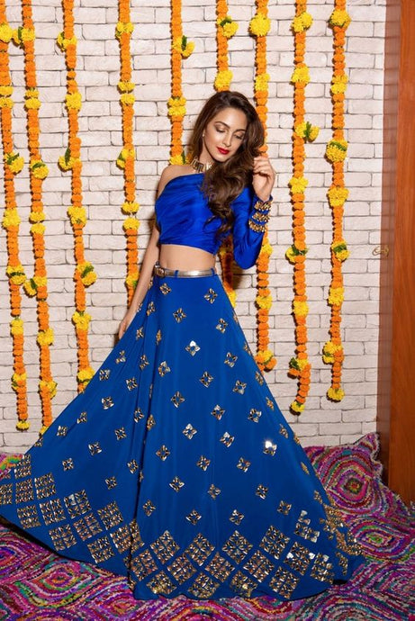 Designer Blue Lehenga Choli Patch Work SFINS1242 - Siya Fashions