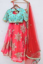 Load image into Gallery viewer, Designer Rani Ice Blue Lehenga Choli SF20023IN - Siya Fashions