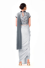Load image into Gallery viewer, Dhoti Style Saree In Grey SFAX0092 - Siya Fashions