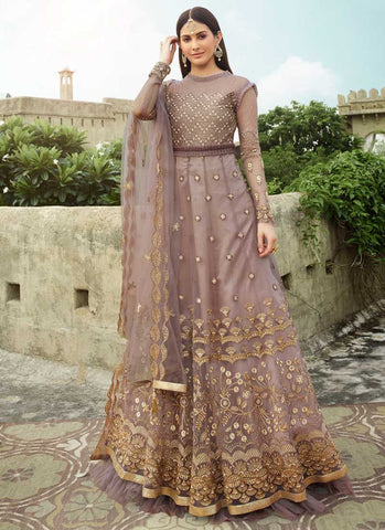 Entice Bridal Purple Long Anarkali Gown In Net APRFZ658 - Siya Fashions