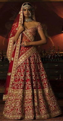 Exclusive Royal Bridal Lehenga Set In Red SIYA4009INS