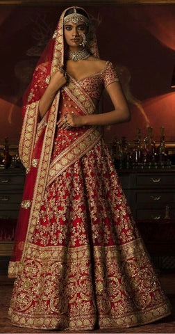 Exclusive Royal Bridal Lehenga Set In Red SIYA4009INS - Siya Fashions