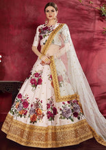 Load image into Gallery viewer, Floral Glow White Silk Spring Lehenga SF121YDS - Siya Fashions