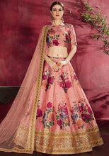 Load image into Gallery viewer, Floral Pink Silk Spring Lehenga SF113YDS - Siya Fashions
