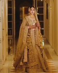 Gold Bridal Dulhan Wedding Haute Couture Silk Lehenga DULHAN57 - Siya Fashions