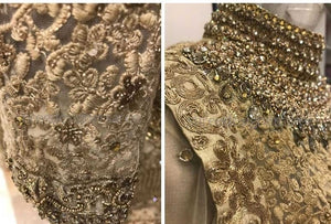 Gold Bronze Silk Wedding Lehenga Choli Set SF532SIY - Siya Fashions