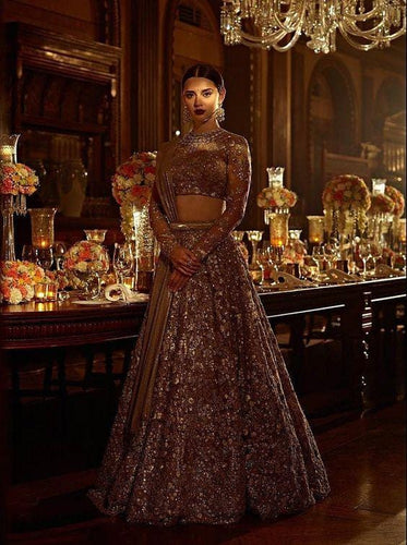 Gold Bridal Fully Wild Zardozi Work  SFIN0922 - Siya Fashions