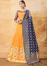 Load image into Gallery viewer, Haldi Mustard Banarasi Silk Fabric Lehenga Choli SFYD73EX - Siya Fashions