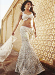 Cocktail White Bridal Reception Lehenga In White SFIN1110SD - Siya Fashions