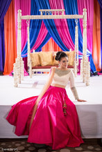 Load image into Gallery viewer, Engagement Lehenga Pink With Sequin Work SFIN310 - Siya Fashions