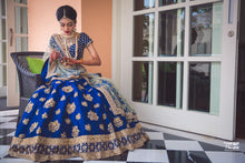 Load image into Gallery viewer, Handcrafted Royal Blue Bridal Lehenga In Blue SFINS265 - Siya Fashions