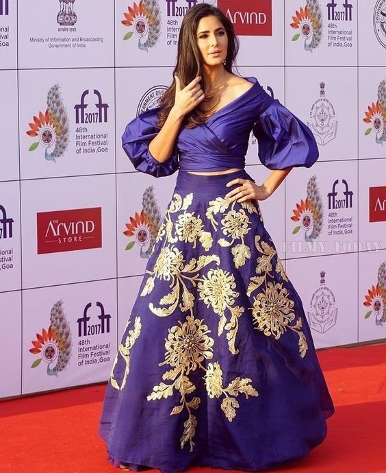 Diva Cocktail Lehenga In Navy Blue With Butta Work SFIN0903 - Siya Fashions