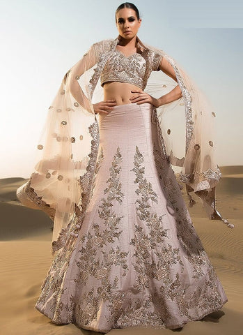 Handcrafted Wedding Reception Lehenga SFSD376 - Siya Fashions