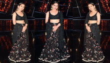 Load image into Gallery viewer, Black Party Wear Lehenga Choli With Floral Sequin SF0132IN - Siya Fashions