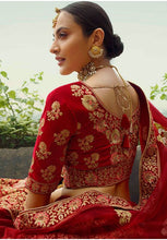 Load image into Gallery viewer, Hot Designer Red Color Velvet Gorgeous Lehenga Choli SYD21569 - Siya Fashions