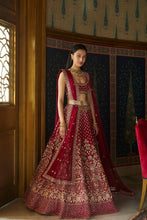 Load image into Gallery viewer, Hot Red Cocktail Party Lehenga Set SIYA311INS - Siya Fashions