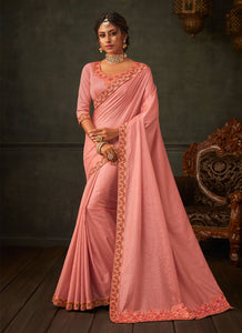 Lusty Pink Designer Party Wear Saree In Silk SIYA2007YDS - Siya Fashions