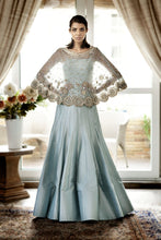 Load image into Gallery viewer, Online Blue Wedding Lehenga With Cape SFAL6553 - Siya Fashions
