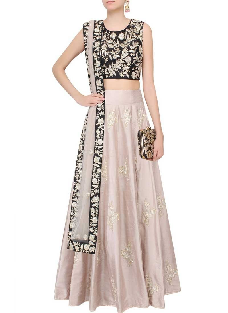 Online Wedding Rose Dhupion Silk Lehenga SF9744 - Siya Fashions