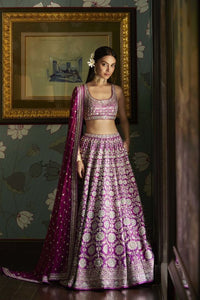 Pink Bridal Wedding Handwork In Silk SFINS456 - Siya Fashions