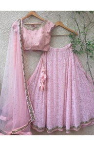 Evening Pink Designer Lehenga Choli In Net SN2207IN - Siya Fashions