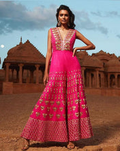 Load image into Gallery viewer, Pink Silk Jumpsuit Stylish Sequin Work SFYD92SINS - Siya Fashions