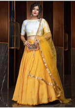 Load image into Gallery viewer, Pretty Golden Yellow Color Cotton Fabric Lehenga Choli SYD5425 - Siya Fashions