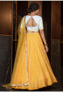Pretty Golden Yellow Color Cotton Fabric Lehenga Choli SYD5425 - Siya Fashions