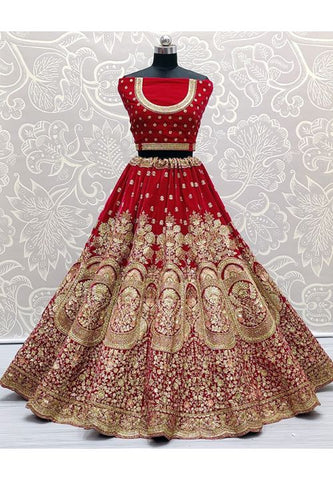 Royal Pink Bridal Wedding Lehenga Choli Hand Embroidery SYDS786 - Siya Fashions