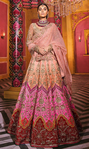 Royal Silk Bridal Peach Lehenga Set SIYA2129INS - Siya Fashions