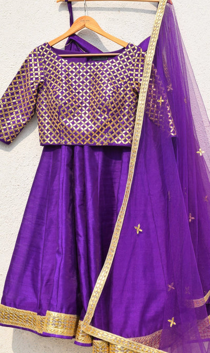 Purple Lehenga Choli Art Raw Silk SFVU9003 - Siya Fashions