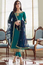 Load image into Gallery viewer, Sapphire Blue Churidar In Georgette Fabric SIYA0301 - Siya Fashions