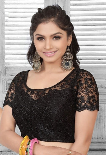 Saree Blouse Black Lace Style SF42BLO - Siya Fashions