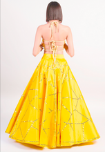 Load image into Gallery viewer, Yellow Silk 3 Piece Evening Cocktail  Lehenga SFBIRDAL078 - Siya Fashions